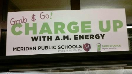 Meriden Charge Up Sign