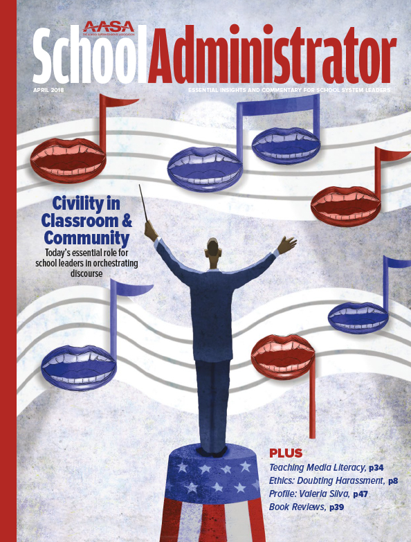 Cover of the April 2018 Edition of School Administrator Magazine
