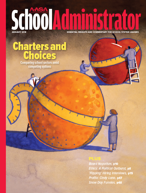 January 2018 cover of School Administrator Magazine